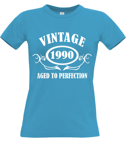 Personalised Year Vintage Women's Fitted T Shirt