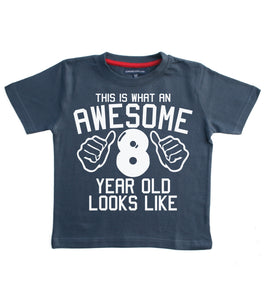 This Is What An Awesome 8 Year Old Looks Like Children's T-Shirt
