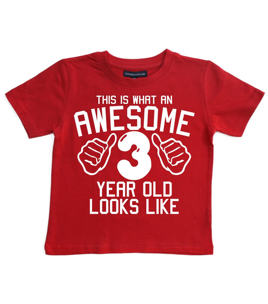 This What an Awesome 3 Year Old Looks Like Children's T-shirt