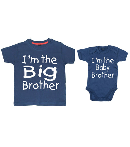 I'm the Big Brother T-shirt and I'm the Baby Brother Bodysuit Set