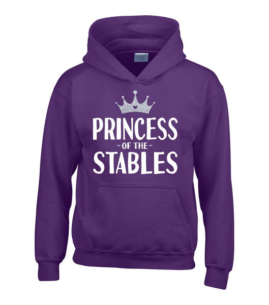 Princess of the Stables Hoodie with White and Silver Glitter Print