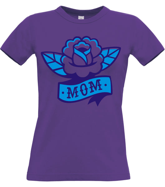 Mom Rose Tattoo Women's Fitted T-Shirt