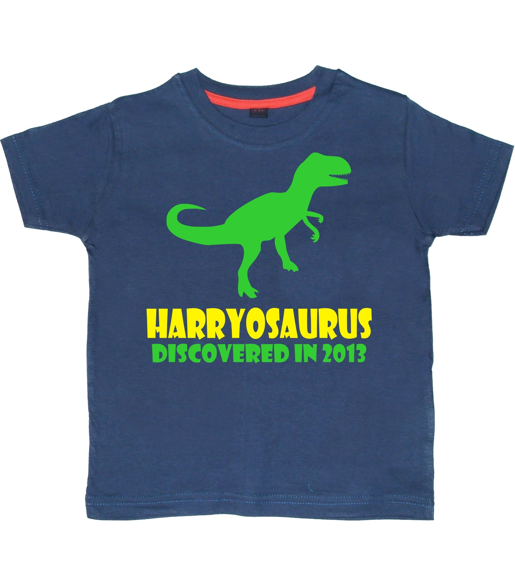 Personalised Name-osaurus Children's T-Shirt with Name and Year