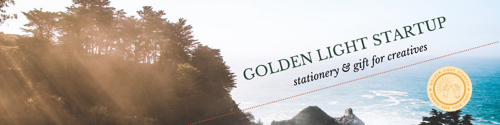 contact page banner for goldenlightstartup.store stationery and gift for creatives