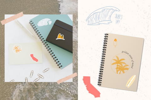 golden state of mind mini collection stickers and notebook goldenlightstartup.store