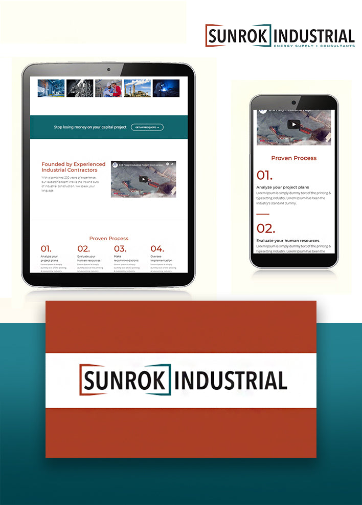 Sunrok Industrial Mobile Site View