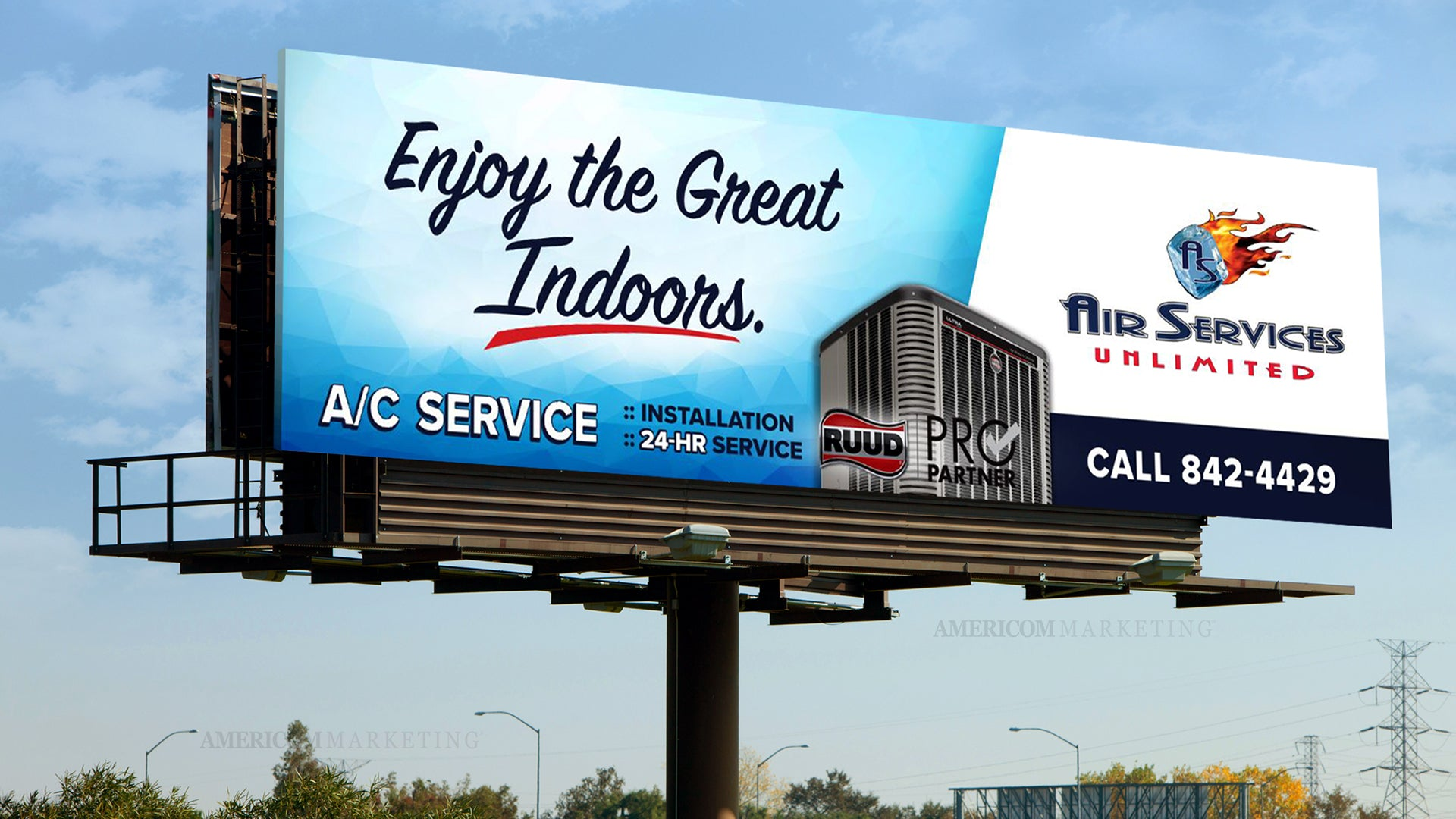 Air Services Unlimited Billboard Ad