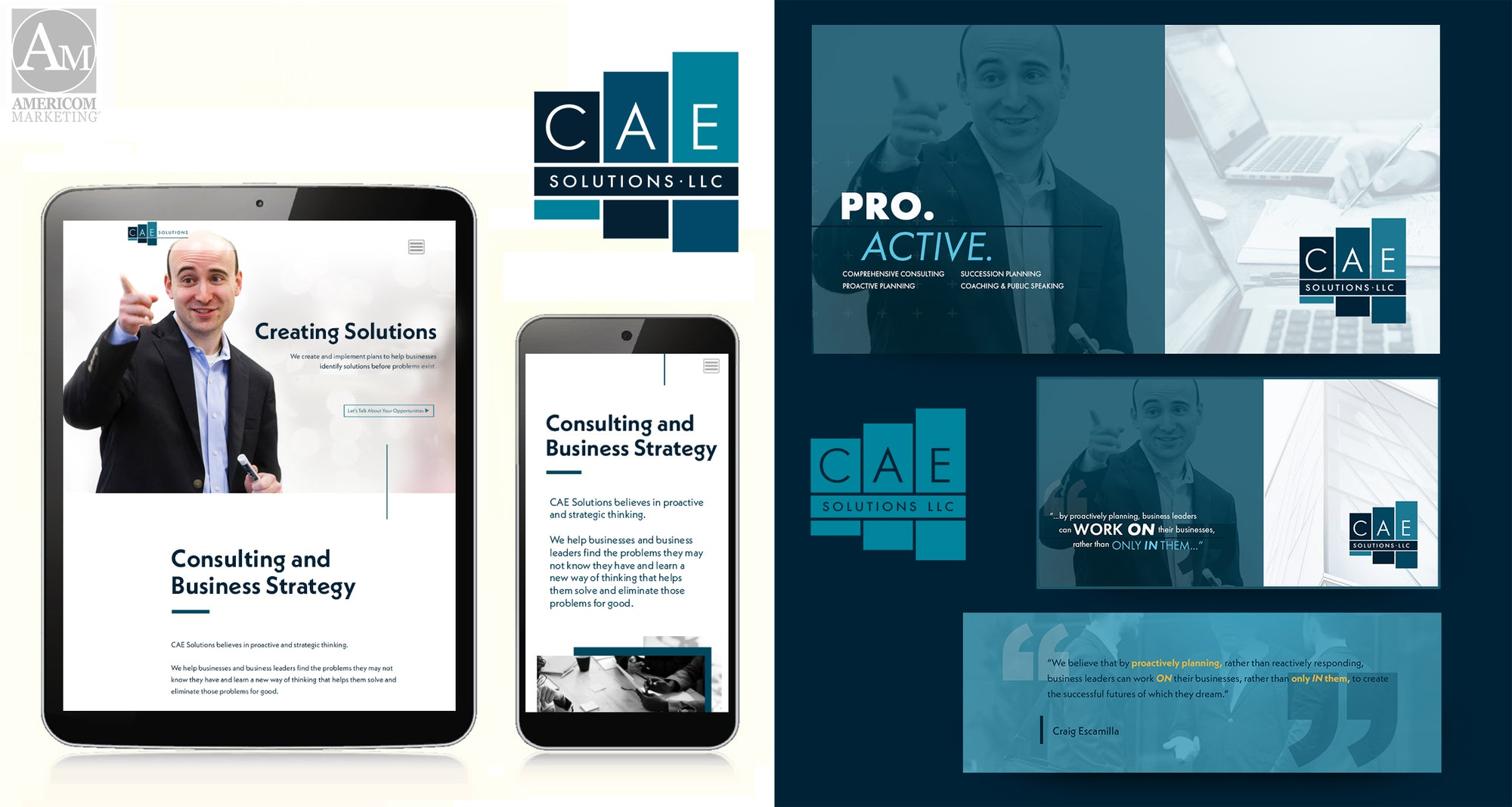 CAE Tablet and mobile responsive web design