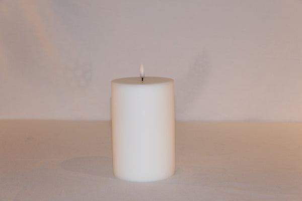 BOUGIE LED PILLAR BLANC