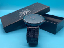 Load image into Gallery viewer, Black Stainless Steel Simple Watch
