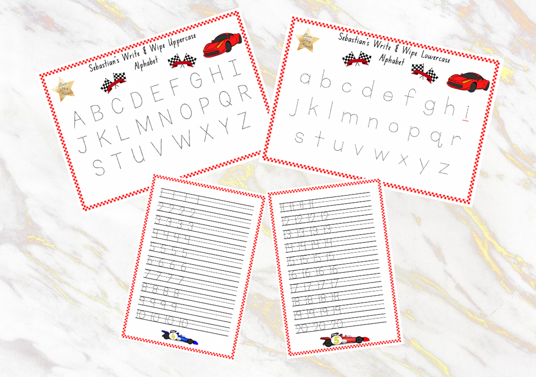 Personalised Alphabet and Numbers Write & Wipe