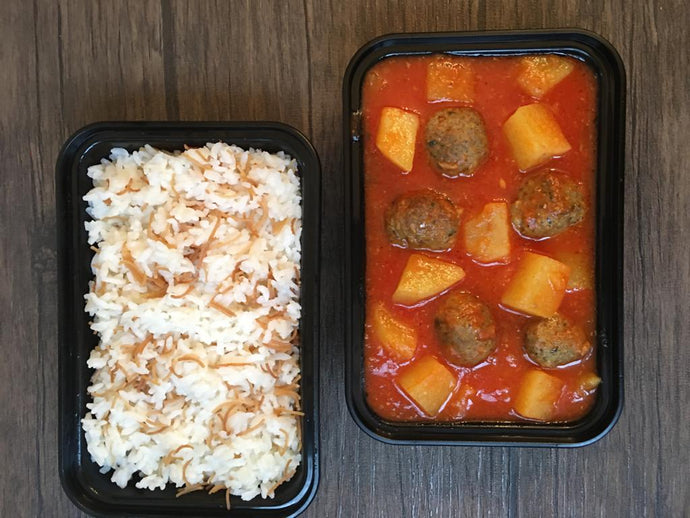 Meatballs with Vermicelli Rice