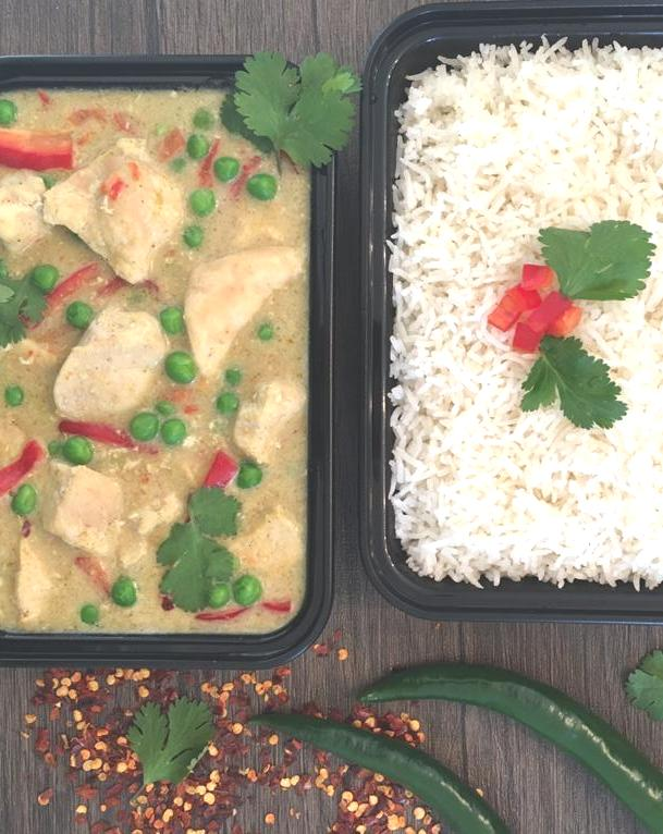 🌶️ Thai Green Chicken Curry with Basmati Rice