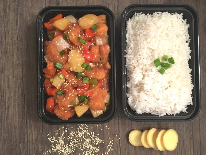 Sweet and Sour Shrimp with Basmati Rice