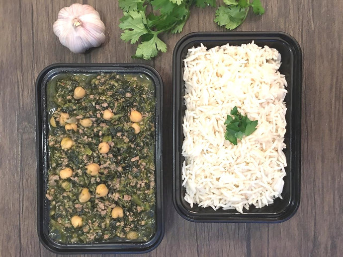 Sabanekh with Rice/Vegetarian Option available