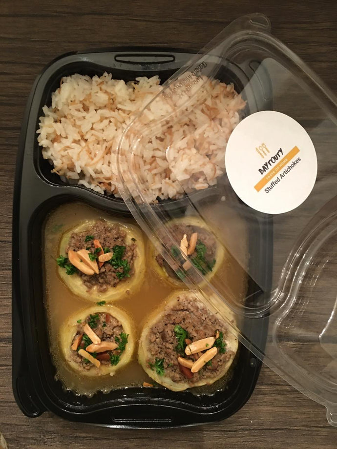 Stuffed Artichokes with Vermicelli Rice