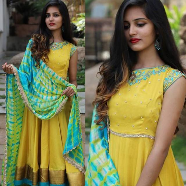Yellow Colored Stylish Cotton Suit