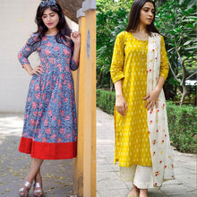 Load image into Gallery viewer, Combo Of 2 Floral Printed Kurtis