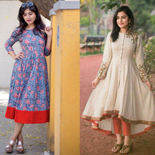 Load image into Gallery viewer, Pack Of 2 Designer Rayon Kurtis