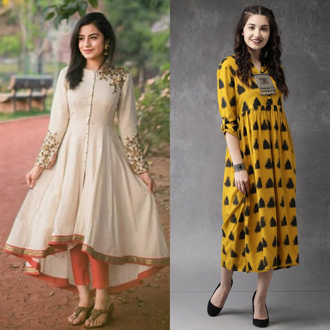 Combo Of 2 Fancy Kurtis