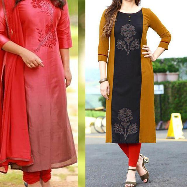 Pack Of 2 Designer Embroidered Dresses