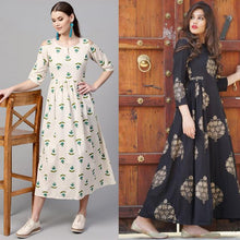 Load image into Gallery viewer, Pack Of 2 Heavy Rayon Festive Wear Kurtis
