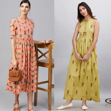 Load image into Gallery viewer, Pack Of 2 Designer Heavy Rayon Kurtis