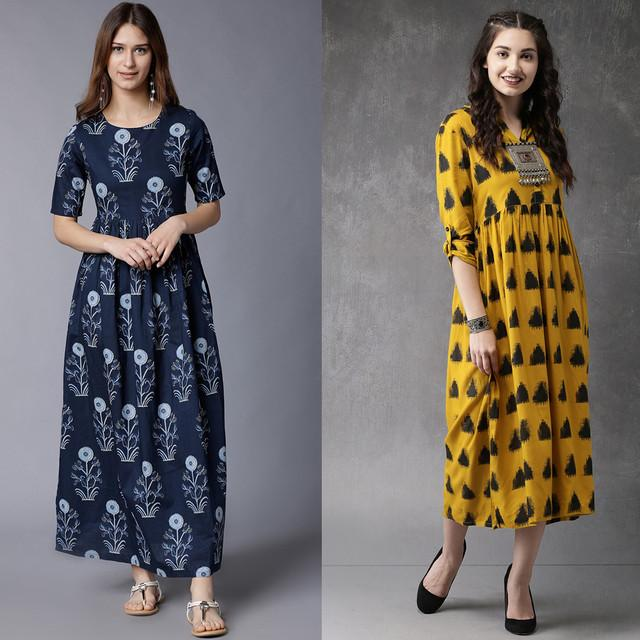 Pack Of 2 Designer Party Wear Kurtis