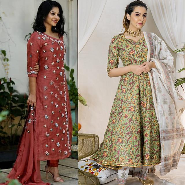 Combo Of 2 Embroidered Traditional Wear Dresses