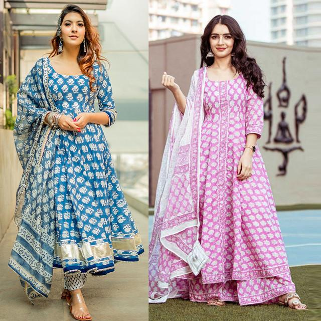 Combo Of 2 Designer Printed Suits