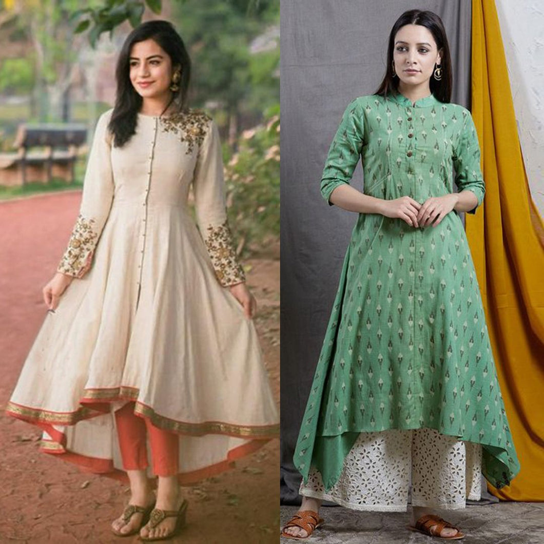 Pack Of 2 Embroidered Kurtis
