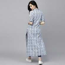 Load image into Gallery viewer, Beautiful Light Blue Color Printed Kurti