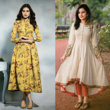 Load image into Gallery viewer, Combos Of 2 Trendy Printed Rayon Kurtis