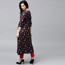 Load image into Gallery viewer, Black Color Designer Printed Kurti