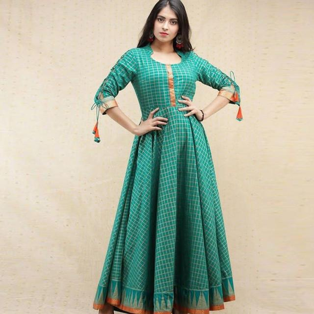 Beautiful Turquoise Colored Fancy Kurti