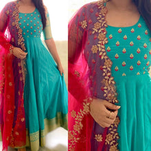 Load image into Gallery viewer, Party Wear Rama Green Color Embroidered Suit