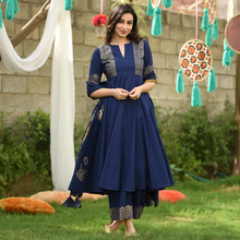 Load image into Gallery viewer, Dark Blue Color Designer Suit With Dupatta