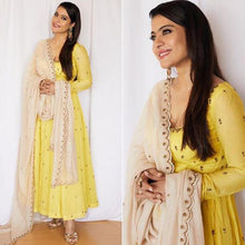 Load image into Gallery viewer, Yellow Color Celebrity Style Suit With Dupatta