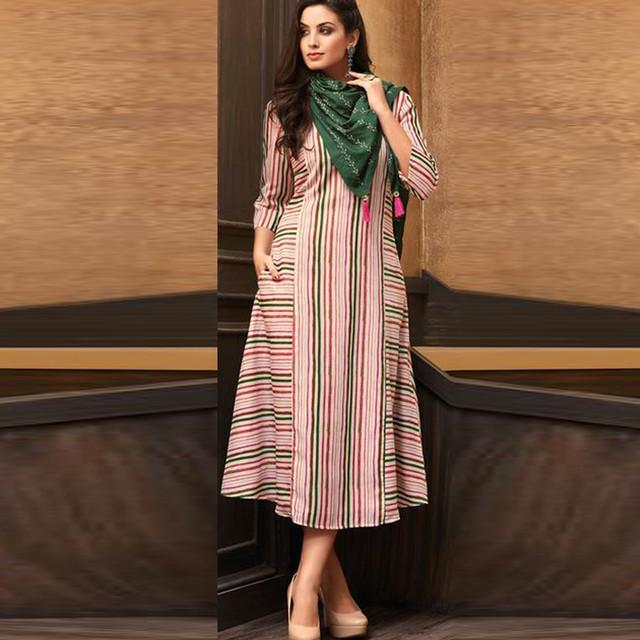 Party Wear Multi Colored Printed Kurti