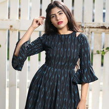 Load image into Gallery viewer, Dark Blue Color Cotton Kurti