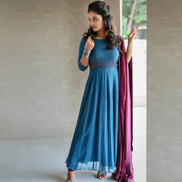 Blue Charming Anarkali Suit
