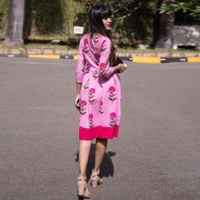 Load image into Gallery viewer, Beautiful Pink Color Party Wear Kurti