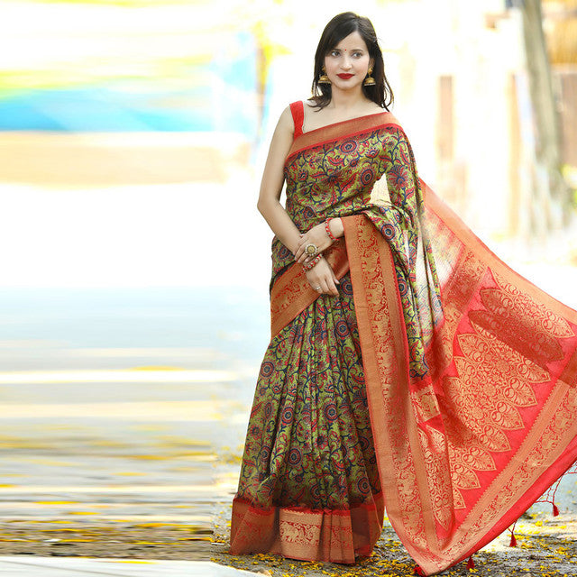 Designer Multi Color Party Wear Saree