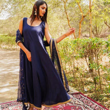 Load image into Gallery viewer, Blue Color Cotton Designer Suit With Dupatta