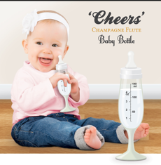 Baby Bottle Cheers Champagne Glass