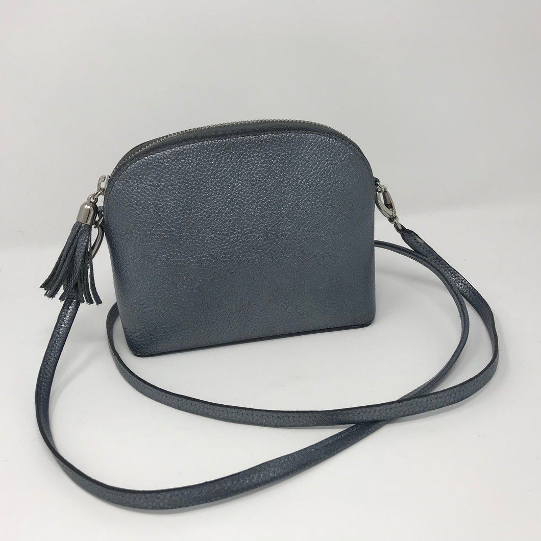 Italian Leather Crossover Clutch Bag