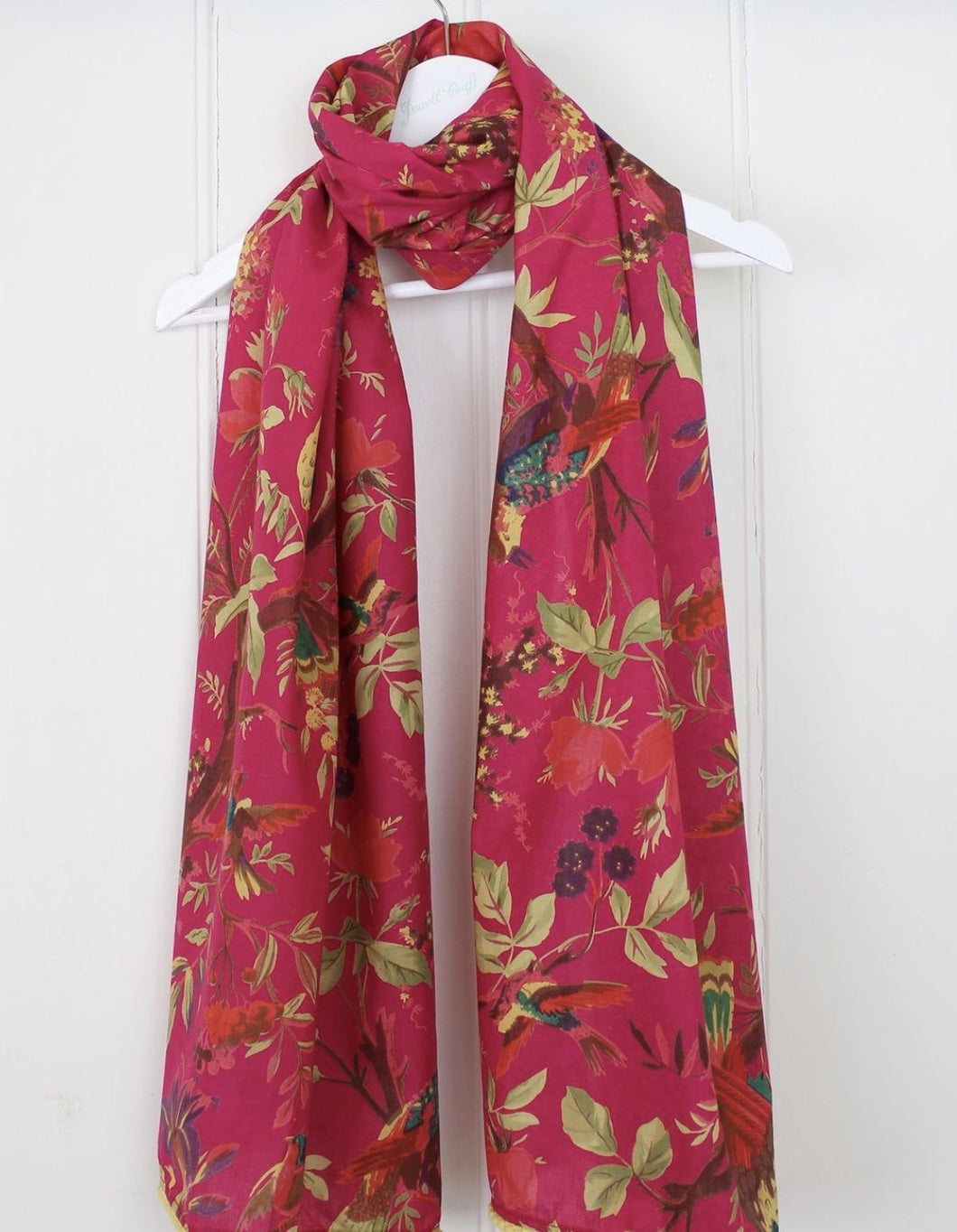 Hot Pink Bird Scarf