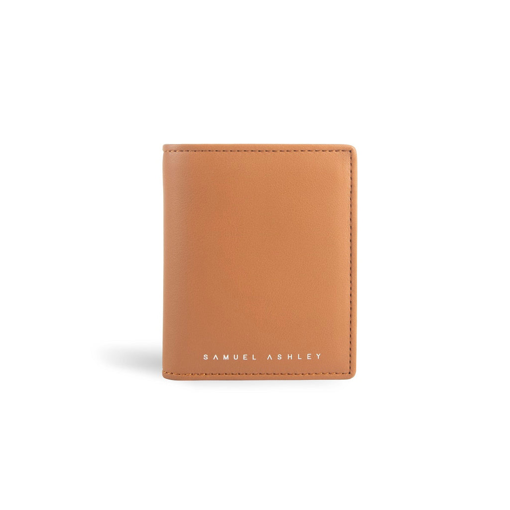 Chandler Vertical Bi-fold Leather Wallet w/ Coin Case (RFID) - [shop_name