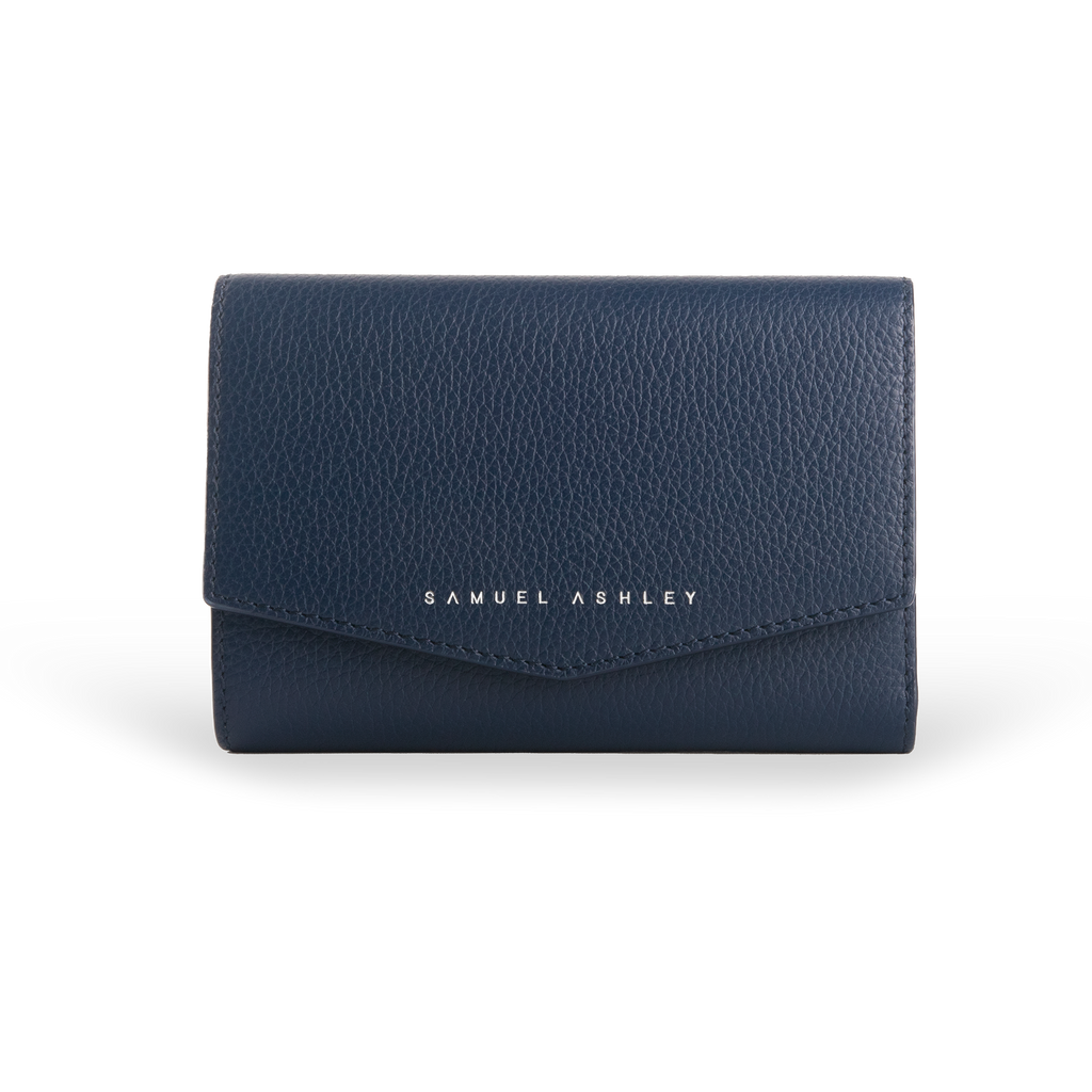 NEW COLOUR | Reagan Leather Trifold Wallet - Samuel Ashley