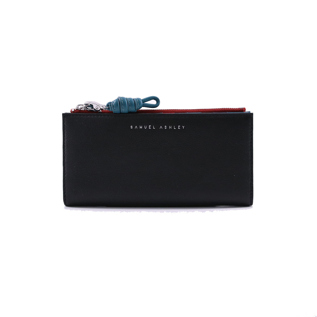Phoebe Long Leather Wallet - Samuel Ashley